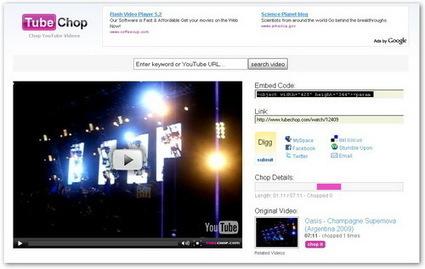 TubeChop: Editar video Youtube   WEB 2.0   Scoop.it