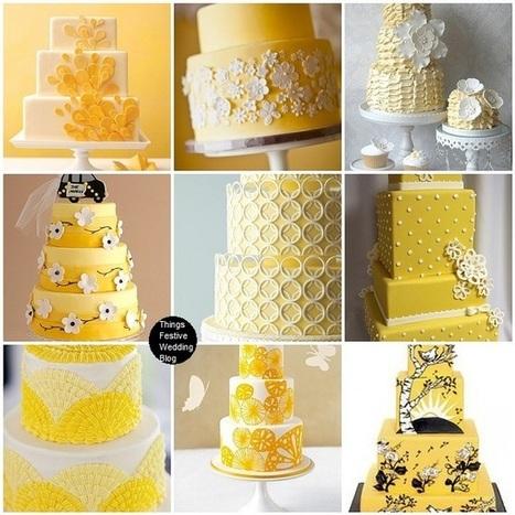 Things Festive Wedding Blog: Yellow Wedding Cakes - Sunny ... | Cake decorators | Scoop.it