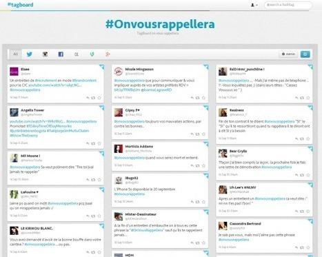Tagboard : monitorer un hashtag sur tous les réseaux sociaux | Time to Learn | Scoop.it