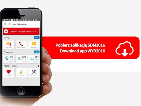 Spustili aplikáciu, ktorá sa zíde pútnikom počas Svetových dní mládeže | Správy Výveska | Scoop.it