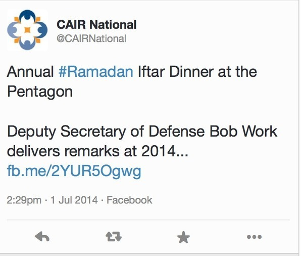 US Hamas-CAIR Jihad Groups Celebrate/Attend Ramadan Dinner at the PENTAGON - Pamela Geller, Atlas Shrugs