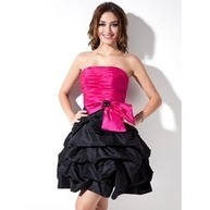 [US$ 119.99] A-Line/Princess Strapless Short/Mini Taffeta Cocktail Dress With Ruffle Beading Bow(s) (016005855) | jenjenhouse | Scoop.it