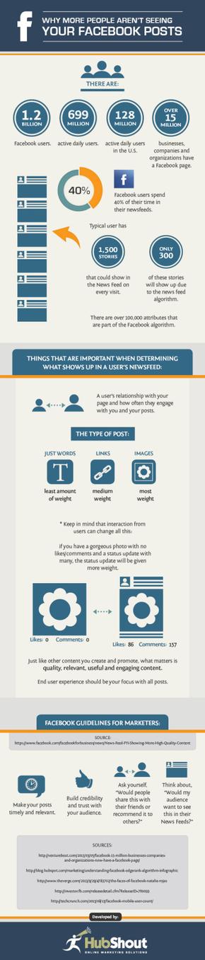 ¿Por qué la gente no lee tus posts de FaceBook? #infografia #infographic | cam de tlaxcala | Scoop.it