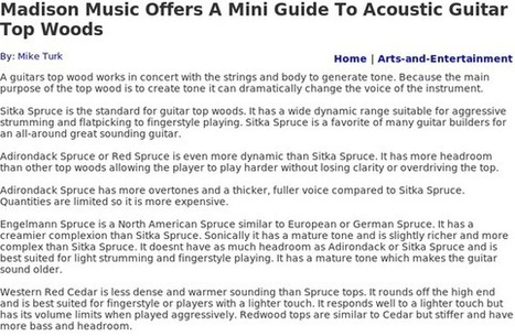 Read About Acoustic Guitars For Sale On Stumbleupon | Acoustic Guitars | Scoop.it