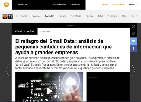Small data | Administración de organizaciones y empresas | Scoop.it