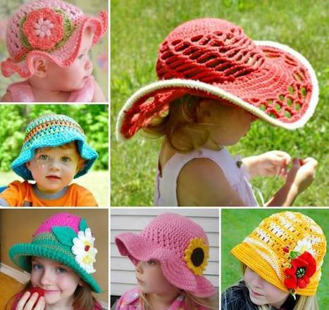 Try These Adorable Crochet Sun Hats   Stylish Board   Scoop.it