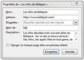 Associer des mots-clés aux Favoris Firefox | Ballajack | Actualités de l'open source | Scoop.it