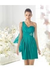 Sheath Column One Shoulder Short Green Party Dress Ppls0143 for $215 | men's fashion | Scoop.it