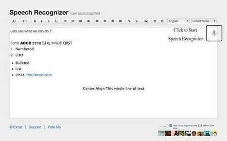 Speech Recognizer, convierte voz a texto con esta app para Chrome.- | Software+App+Web.- | Scoop.it