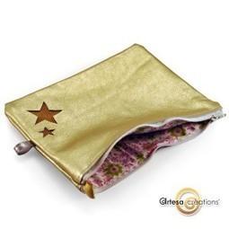 Pochette fantaisie étoiles dorées fantaisie trousse gold | Accessoires de Mode | Scoop.it