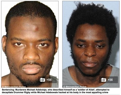 Muslim Killers Who Beheaded Lee Rigby on London Street Scream