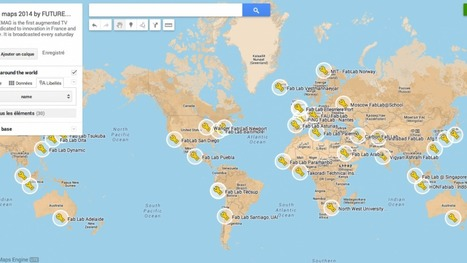 Carte du monde des Fablabs | Jisseo :: Imagineering & Making | Scoop.it