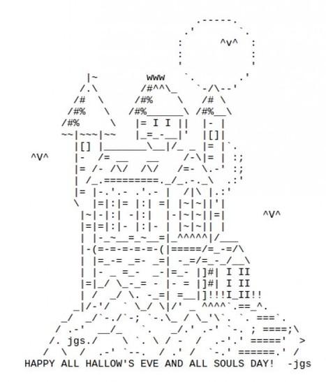 Happy Halloween – Have a Great Creepy Day! | ASCII Art | Scoop.it