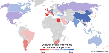 Want to Move Abroad? This Map Shows the Best and Worst Countries to be an Expatriate | RMStaples Topics | Scoop.it