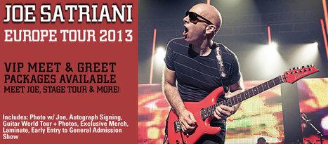 JOE SATRIANI Tour VIP Meet & Greet Upgrade Packages | Millenniumplus: News, Music & Entertainment | Scoop.it