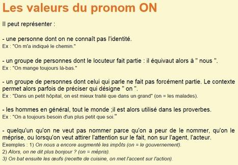 Les valeurs du pronom ON | FLE enfants | Scoop.it