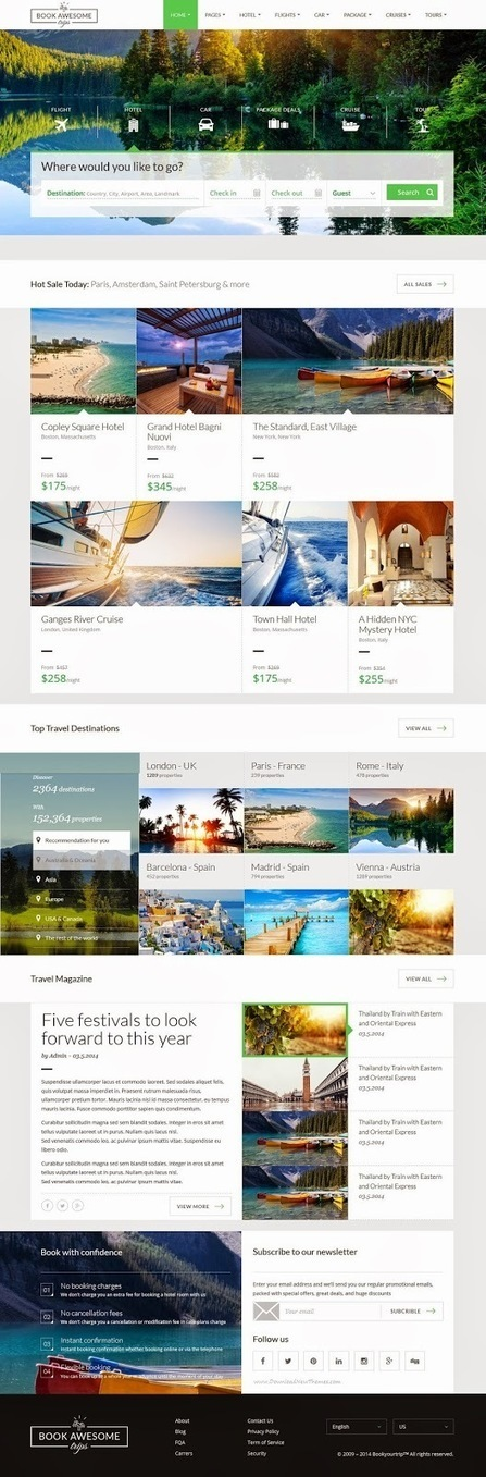 Beautifully Crafted Responsive Travel Booking Site Template - Download New Themes | About the World | Scoop.it