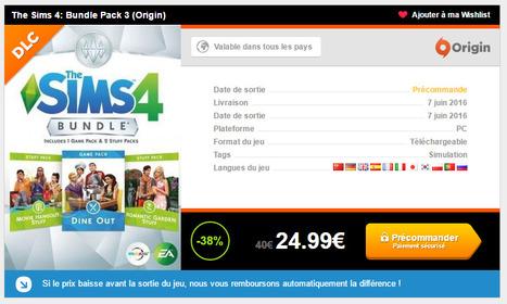 Les Sims 4 Bundle Pack 3 à 24,99 € au lieu de 39,99 € sur Instant Gaming !!! | Les Sims | Scoop.it