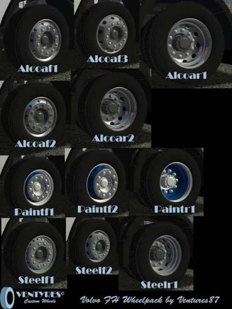 Volvo Wheel Pack v 1.0 ETS 2 Mods, Euro Truck Simulator 2 mods - Gamemoding.com | Game Mod Culture | Scoop.it