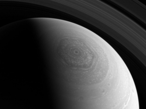 Saturn's hexagonal jet storm could swallow the Earth—twice! - GMA News | OntarioStargazing Astro Highlights | Scoop.it