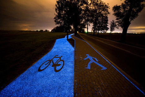 Poland builds a solar-powered bike path that glows a ghostly blue | Innovations urbaines | Scoop.it