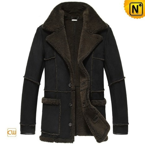 CWMALLS® Mens Shearling Leather Jacket CW878127 | Leather Trench Coat | Scoop.it