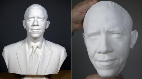 IL Y A 2 ANS...Les spécialistes de l'imagerie numérique du Smithsonian scannent et impriment le président Obama en 3-D | Clic France | Scoop.it