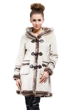 Beige suede with faux wool long suede coat | Comfortable faux fur coat fashion | Scoop.it