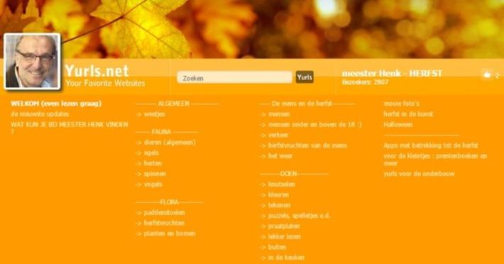 Edu-Curator: Mooie Yurls over de herfst: meester Henk - HERFST | Educatief Internet - Gespot op 't Web | Scoop.it