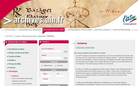 La moitié des répertoires des notaires de l'Ain consultables en ligne - GénéInfos | Nos Racines | Scoop.it