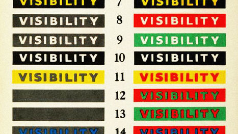This 1939 Chart Explains How Color Affects Legibility | Visual & digital texts | Scoop.it