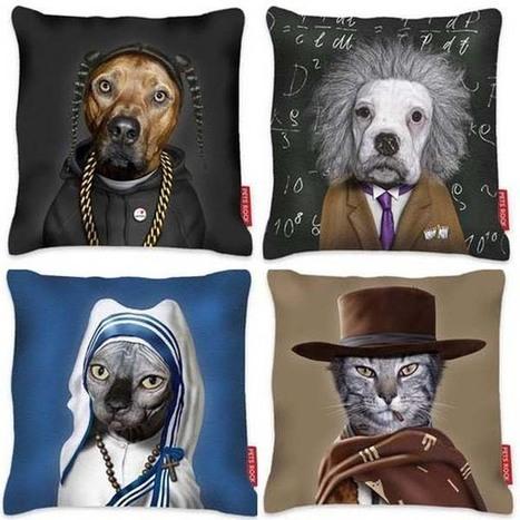 Colección de cojines Pets Rock, elegantes y divertidos.   Mil ideas de Decoración   Accesorios decoración   Scoop.it