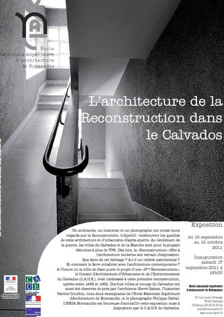 "Expo ""L'architecture de la Reconstruction dans le Calvados"" 
