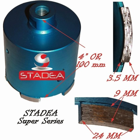 "Diamond Hole Saw Core Bit : 4"" or 102 MM | Diamond Polishing Pads, STADEA | Scoop.it"