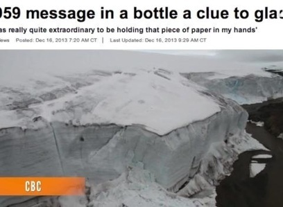 """Message in a bottle found 54 years later in Canadian Arctic 