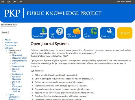 Open Journal Systems | Public Knowledge Project | Datos Abiertos y Enlazados (OpenData & Linked Data) | Scoop.it