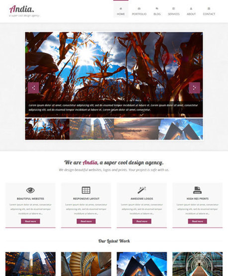 90 Absolutely Free Responsive HTML5 CSS3 Website Templates | Pixelbell | fotograficznie | Scoop.it