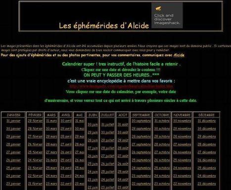 Site du jour (181) : Les éphémérides d'Alcide   Au hasard   Scoop.it