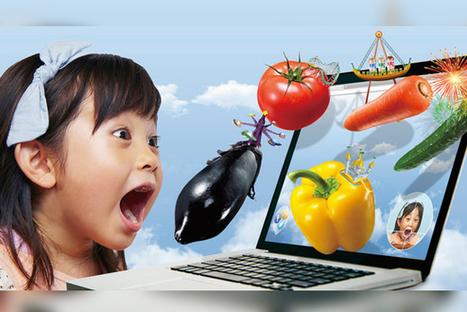 Au Japon, un jeu online incite les enfants à manger des légumes devant leur webcam !   Planète Paléo   Scoop.it
