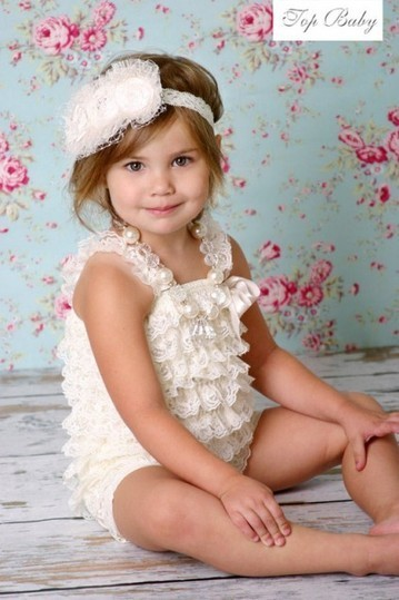 Gorgeous White Baby Girl Romper Made With Beautiful Laces | Online Baby Accessories | Scoop.it