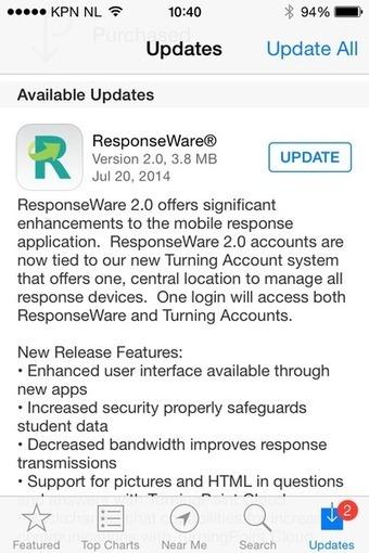 Turning Technologies Responseware V2.0 nu beschikbaar. | Transcontinenta educatie nieuws | Scoop.it