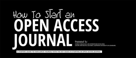 How to Start an Open Access Journal | Science 2.0 news | Scoop.it