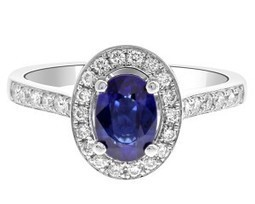 CR1020 Sapphire And Diamond Halo Ring | Bespoke Diamonds | Engagement Rings Dublin | Scoop.it