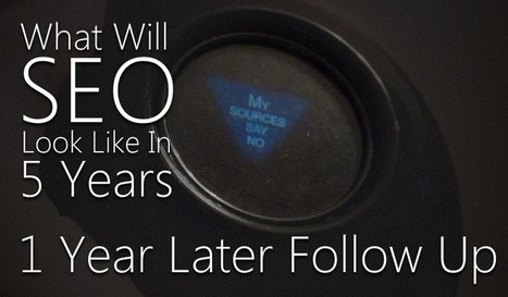 What Will SEO Look Like in 2018? 1 Year Follow Up | Brad S. Knutson | SEO | Social Media | UX | Scoop.it