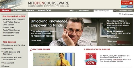 Free Online Course Materials | MIT OpenCourseWare | Innovatieve eLearning | Scoop.it