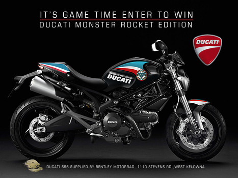 Motorcygalz.com | Hockey and Motorcycles – why not! | Kelowna Rockets Hockey Club Ducati Giveaway | Ductalk Ducati News | Scoop.it