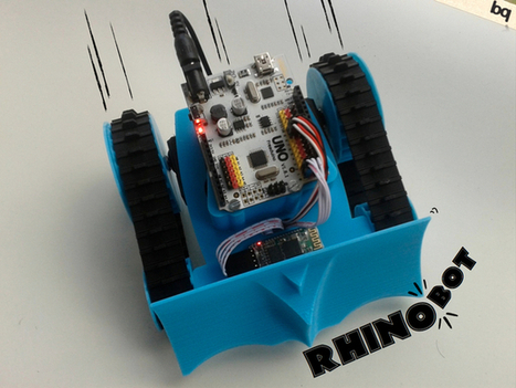 Opensource RhinoBOT is Well Suited For Hacking and Sumo-Robotics! | Open Source Hardware News | Scoop.it