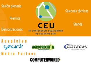 En octubre, III Conferencia Ecuatoriana de Usuarios Esri CEU2015