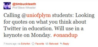 On Twitter | The Student Teacher Resource | Student blogs | Scoop.it